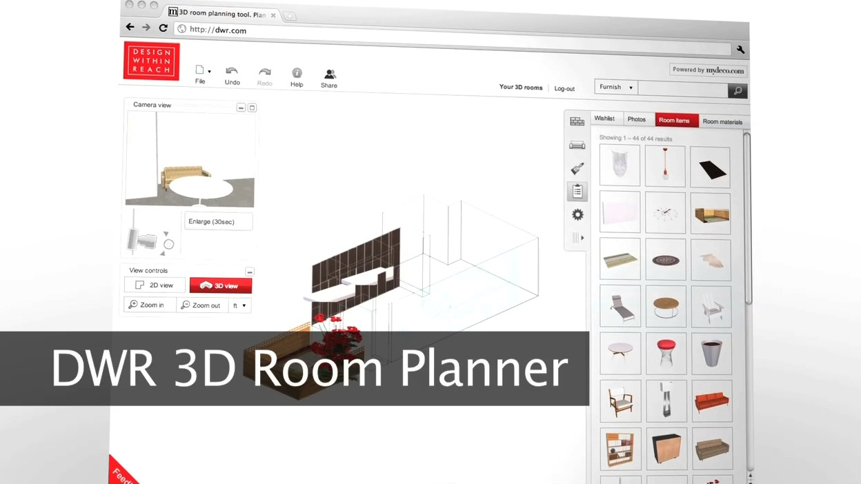 Rumur design within reach 3d room planner for Make room planner